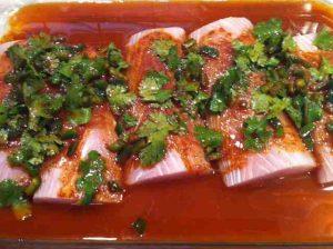 Marinating Fish Tacos