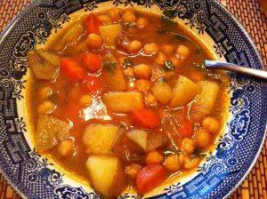Wendy's chickpea Veg soup
