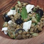 Lentil Salad with Cucumbers and Olives